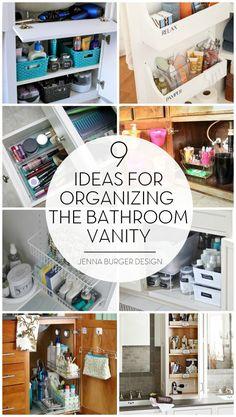 BATHROOM ORGANIZATION: Organizational ideas + tips for the bathroom vanity