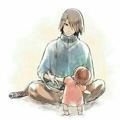 Sasuke with his little princess