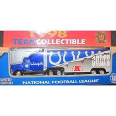 Indianapolis Colts NFL Diecast 1998 Matchbox Tractor Trailer Football Team Truck White Rose Collectible Car by NFL  $19.79