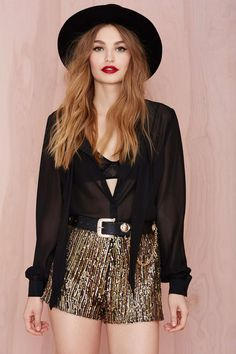 Flashing Out Sequin Hot Pants