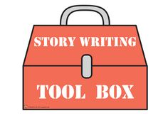 Teacher's Pet - Story Writer's Tool Box Display pack ~ includes tools with story elements ~ Really Cute