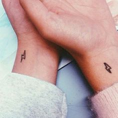 Pin for Later: 30 Tiny, Chic Wrist Tattoos That Are Better Than a Bracelet Harry Potter and the Matching Tattoos