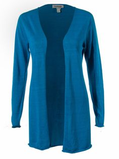 Giacca spolverino 100% lino colore azzurro turchese