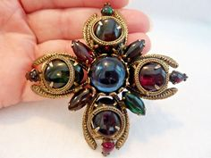 Large Vintage Rhinestone Glass Jeweled Red, Blue, Green Maltese Cross Pin Brooch | Украшения и часы, Винтажные и антикварные украшения, Бижутерия | eBay!