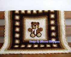 """Love Crochet: PDF Pattern """"Crochet Teddy Bear Blanket"""""""
