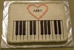 Piano cake, using Kit Kat bars for the black keys!