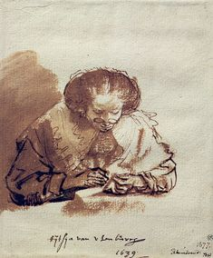 Rembrandt http://www.rembrandtpainting.net/rmbrndt_selected_drawings/new_images/titia.jpg