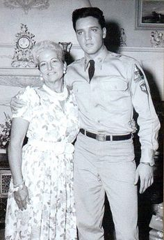 "..Elvis and Marie Parker on the set of ""G.I.Blues"" - (Mrs. Tom 'Colonel' Parker)"