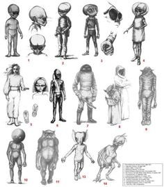 CIA images of known Aliens on Earth
