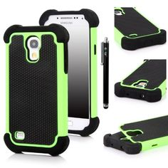 E LV Hybrid Armor Defender Protective Case Cover (Hard Plastic with Soft Rubber Silicon) for Samsung Galaxy S4 MINI i9190 with 1 Black Stylus and Microfiber Digital Cleaner - Green Elv,http://www.amazon.com/dp/B00EZJYJWM/ref=cm_sw_r_pi_dp_IfEvtb0390WT62T8