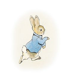 classic rabbit pose | Illustration to The Tale of Peter Rabbit, 1902