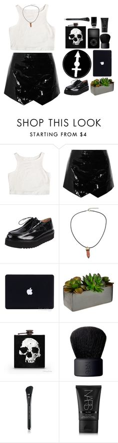 """*you're my favourite kind of night*"" by my-black-wings ❤ liked on Polyvore featuring Mason by Michelle Mason, Pascucci, Threshold, NARS Cosmetics, Marc Jacobs and Nails Inc."