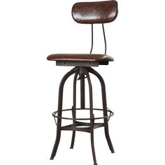 Found it at Joss & Main - Adjustable Height Swivel Bar Stool with Cushion