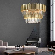 Ο χώρος σας είναι ψηλοτάβανος; Επιλέξτε τον εξαιρετικά εντυπωσιακό πολυέλαιο Baladona της Nova Luce. Φτιαγμένος από golden brass αλουμίνιο και κρύσταλλα διάφανα, είναι σημείο αναφοράς για τη διακόσμηση και το ύφος του χώρου σας! Λάμψη, πολυτέλεια .. και χαμηλή κατανάλωση ρεύματος, χρησιμοποιώντας λάμπες led.