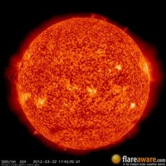 The hourly sun (at 05:45 pm  UTC on 22 March 2013)