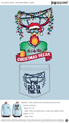 Phi Delta Theta Christmas Break Shirt | Fraternity Christmas Break | Greek Christmas Break #phideltatheta #phidelt #Christmas #Break #reindeer #lights #christmas
