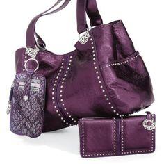 Brighton Andie Soft Shoulder Bag Sapphire 52