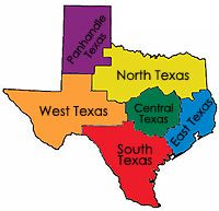 Texas Region to see a map with information on State Parks, RV parks, and campgrounds in that Region