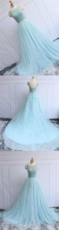 Prom Dresses Long Lace Beading Lace-up Prom Dress/Evening Dress #JKL037