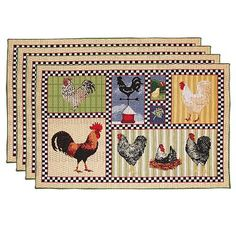 Linen funny placemats-Chicken Napkins-Chicken table decor-Easter Linens-Easter Chicks Easter Placemats Set organic placemats kids