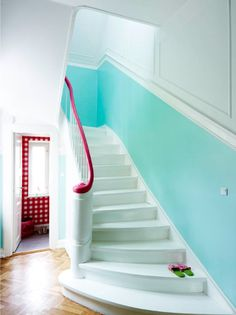 sfgirlbybay / bohemian modern style from a san francisco girl / page 54 San Francisco Girls, Halls, Bedroom Wall Colors, Small Hallways, Painted Stairs, Courtyard House, Inspired Homes, Interior Design Inspiration, Interiores Design