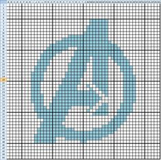 Free Avengers Cross Stitch Pattern. I'm not a cross stitcher, but I might just do this one