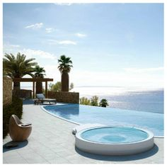 My goal in life is to have an awesome view like this. With an amazing pool.