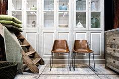 design stoelen zadelleer in verschillende hoogtes