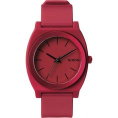 950d09a419e Nixon A119-1298 Mens Time Teller P Dark Red Ano Watch Seashell Jewelry, Red