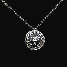 D20 necklace, Nerd jewelry, Dice pendant, Chainmaille wrapped, Twenty sided, Dungeons and dragons, Geek gifts, Gamer gifts, Role playing