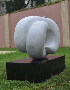 Leopoldino de Abreu -  Infinite Cycle #Sculpture - Brasilian White Marble 2015