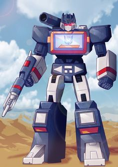 Here is Soundwave. One of the most infamous Decepticons this side of Megaron's eyebrows. lol ^^ I'm not really a fan of Decepticons (I h. Transformers Soundwave, Transformers Bumblebee, Transformers Prime, Optimus Prime, Gi Joe, Desenho Kids, Gundam, Nemesis Prime, Transformers Generation 1