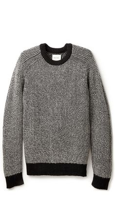 Billy Reid Textured black and white sweater $195