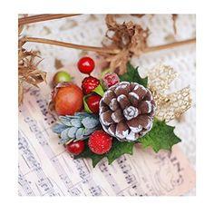 Helen De Lete Innovative Pine Cone Berry Handmade Brooch And Hairpin U003eu003eu003e  You Can