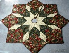 Easy Quilted Tree Skirt Pattern | quilted christmas tree skirt pattern | Tazzie Quilts | Christmas!