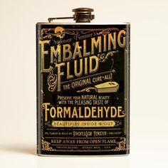 Theatre Bizarre Embalming Fluid Flask
