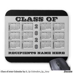 Class of 2020 Calendar by Janz Silver Mousepad