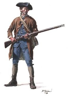 """Massachusetts Minute Company 1775 (By Don Troiani) - note the """"Hi-Low"""" boots"""