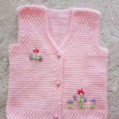 Fancy Spring Flower Fiber Model Making Örgü Modelleri Baby Hat Knitting Pattern, Baby Hat Patterns, Baby Knitting, Crochet Baby, Knitting Patterns, Diy Crafts Crochet, Baby Vest, Tunisian Crochet, Diy Dress