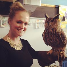Owl from Harry Potter....visits our wee school