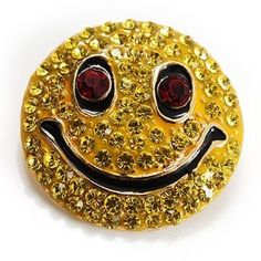 Crystal Smiley Face Brooch