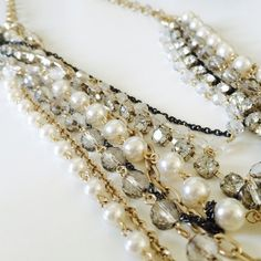tiered / statement necklace ⚡️Host Pick⚡️ ➳ tiered long necklace  ➳ classic statement piece  ➳ 18in in length (when clasped) ➳ adjustable clasp  ➳ brand new, never worn   ❥ stunning statement piece that is sure to dress up any basic blouse or dress Jewelry Necklaces