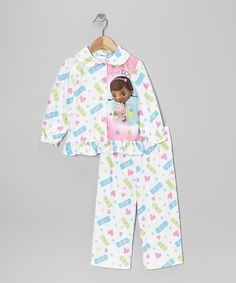 Take a look at this Doc McStuffins White Doc McStuffins Button-Up Pajama Set - Toddler on zulily today!