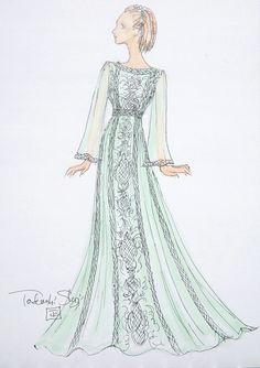Designer Sketches From New York Fashion Week Spring 2015 | POPSUGAR Fashion - Tadashi Shoji