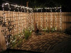 "Behind the ""outdoor room"" present you one collection of AMAZING DIY Outdoor and Backyard Lighting Ideas for the Garden on how to brighten outdoor space beautifully. For more inspiration, see our posts on AMAZING DIY Front Yard Landscaping Ideas … Backyard Projects, Backyard Patio, Pergola Patio, Wrought Iron Trellis, Backyard Lighting, Lights In Backyard, Garden Fairy Lights, Garden Lighting Ideas, Outside Lighting Ideas"
