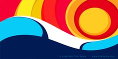 colorful, creative, curves, Illustration, Inspiration, Minimal, waves
