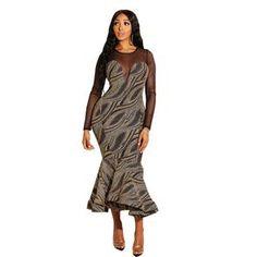 41750759ed NEW IN. Spring O Neck Long Sleeve Maxi Dress WOMEN Ruffle Spliced Irregular Dress  2019 ...