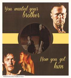 The Walking Dead.  Daryl Dixon and Meryl Dixon.