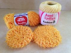 Kitchen Scrubby - Crochet - My Own Pattern                                                                                                                                                                                 More