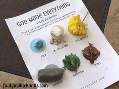 I Spy Activity Printable God Made Everything